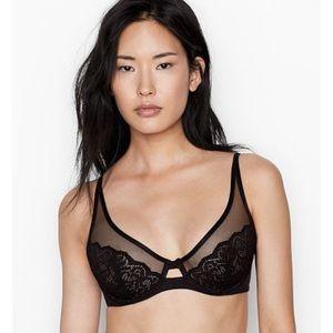 NWT Victoria's Secret Unlined Lace Demi Bra, 38C